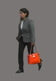 Woman with Red Bag