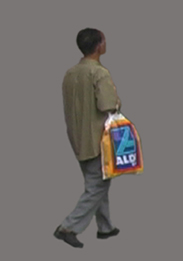 Man with Plastic Bag